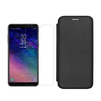 کیف کلاسوری مسیر مدل MMGNT- MGMJ-1 مناسب برای گوشی موبایل سامسونگ Galaxy A6 Plus به همراه محافظ صفحه نمایش
