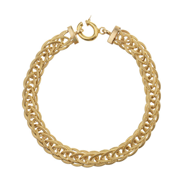دستبند النگو طلا 18 عیار زنانه آلند کد D33