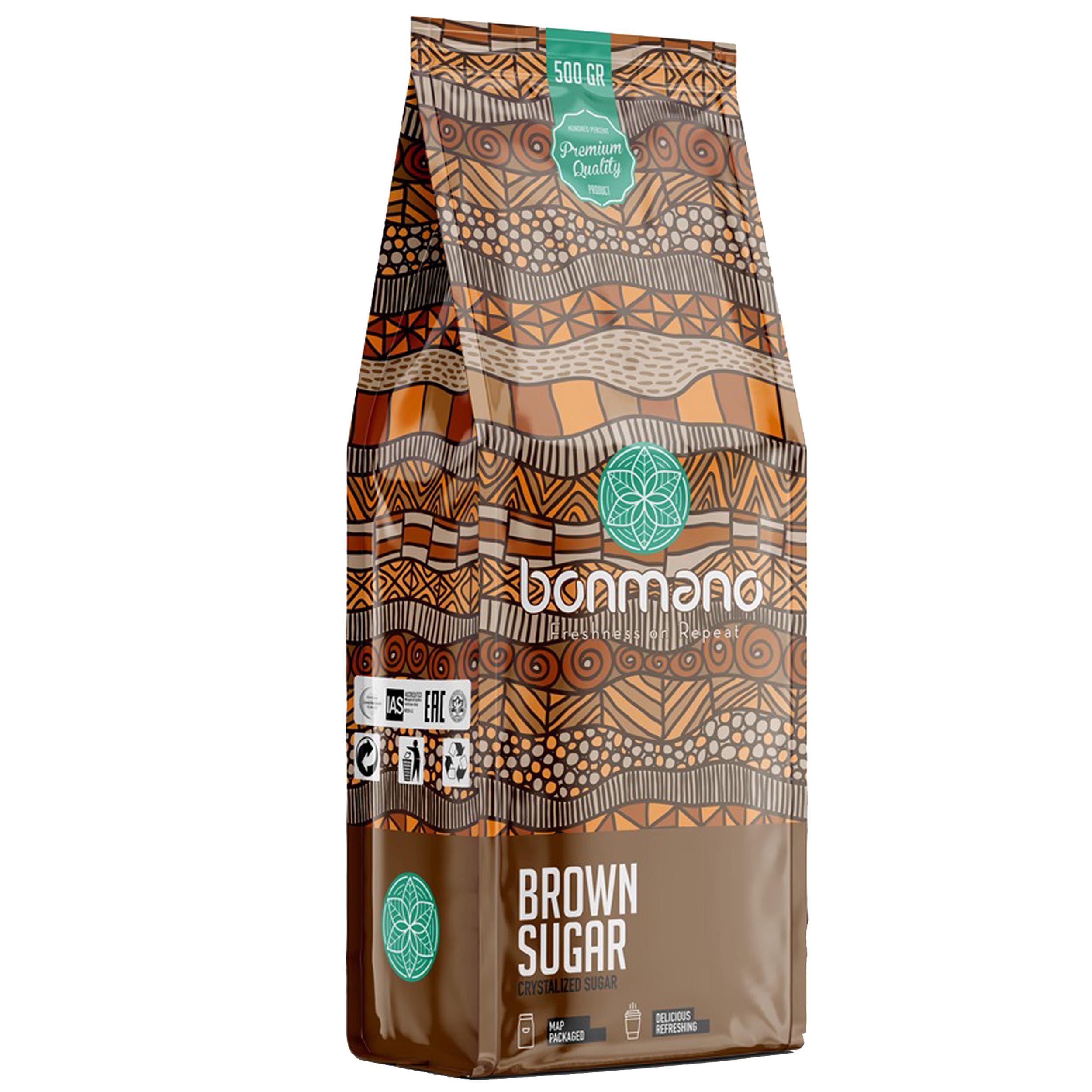 شکر قهوه ای بن مانو مقدار ۵۰۰ گرم