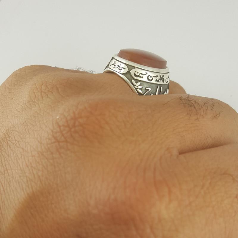 انگشتر نقره مردانه بلو استون کد 1063