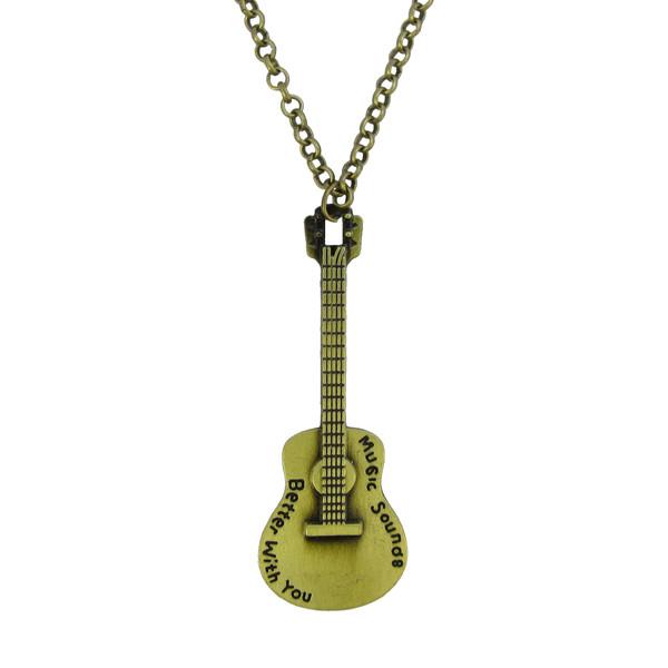 گردنبند طرح گیتار کد 022
