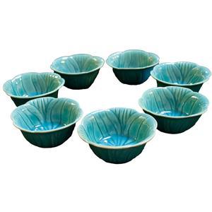 مجموعه ظروف هفت سین 7 پارچه طرح برگ ساده مدل B199