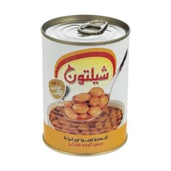 کنسرو لوبیا چیتی با سس گوجه فرنگی شیلتون - 400 گرم