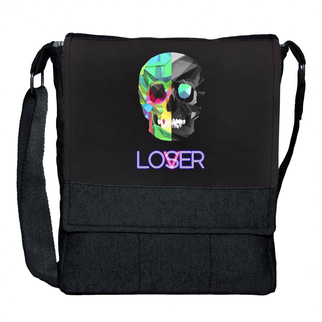 کیف دوشی گالری چی چاپ طرح Loser کد 65701