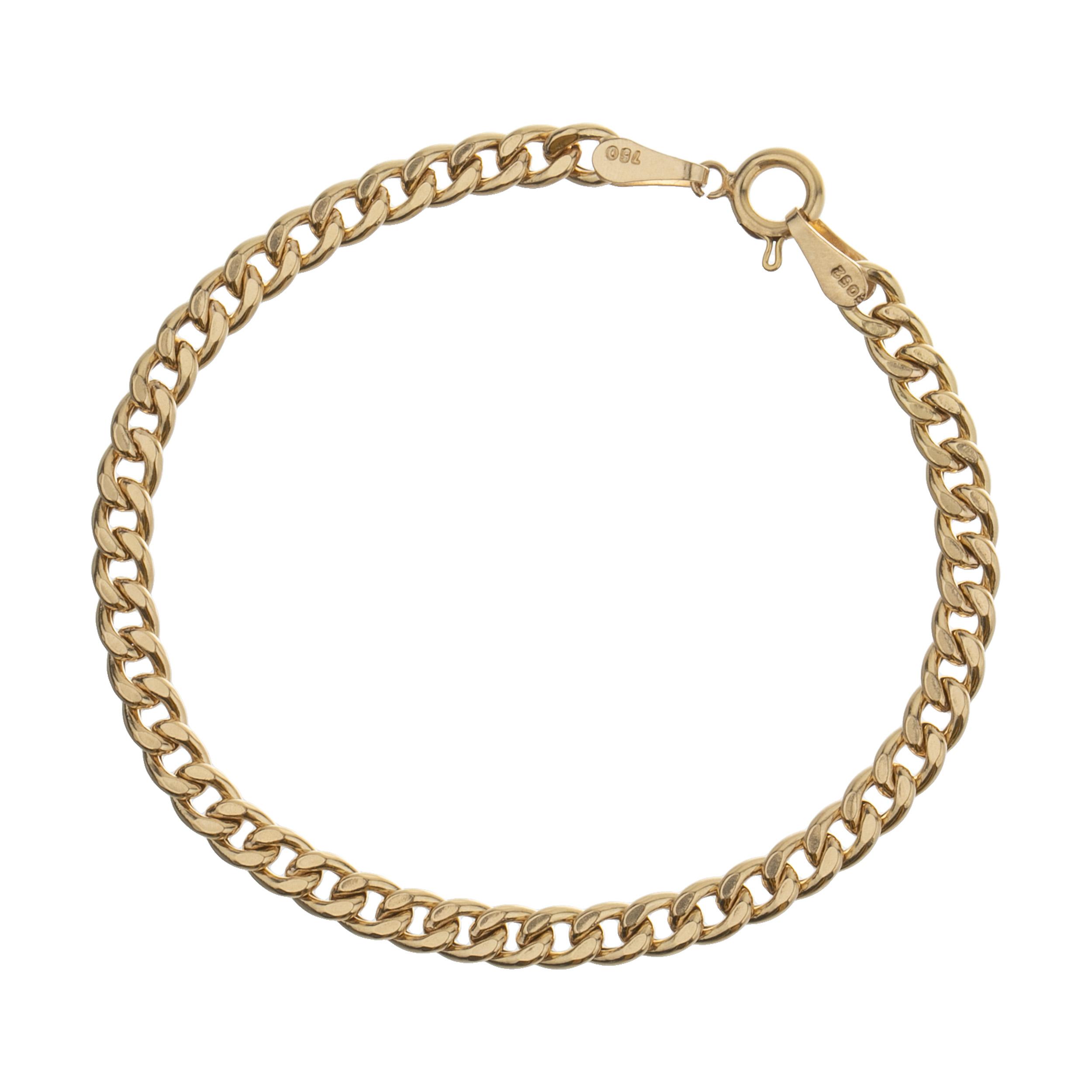 دستبند طلا 18 عیار زنانه آلند کد w1