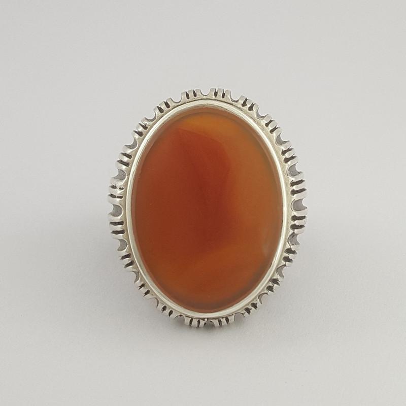 انگشتر نقره مردانه بلو استون کد 1064