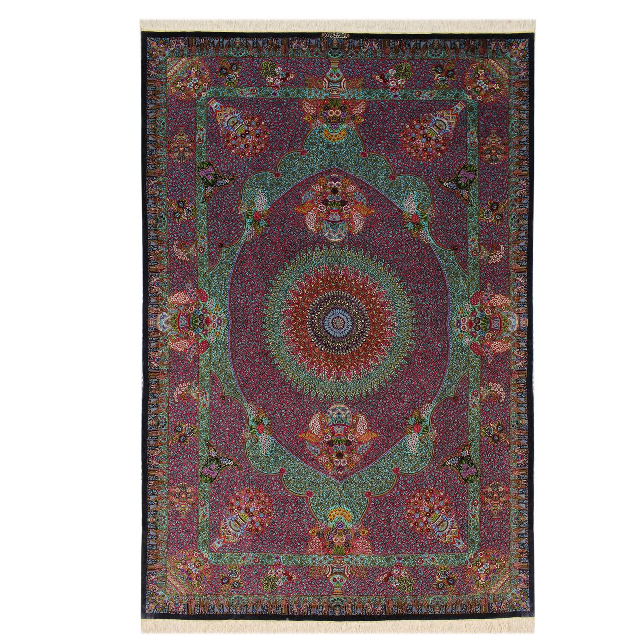فرش دستبافت شش متری قم نادر کد 1105835