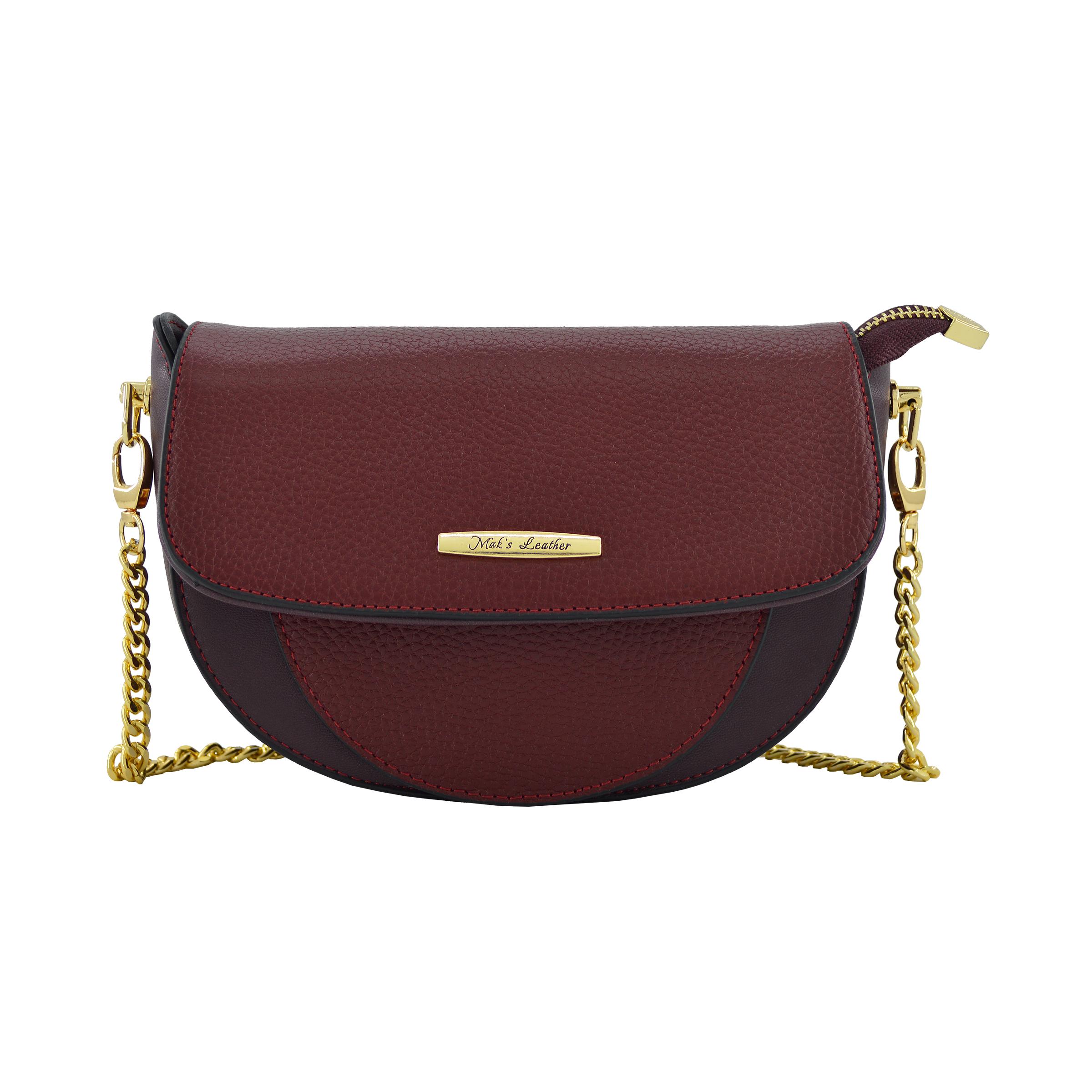 کیف دوشی زنانه چرم مکس مدل آلدورا کد 13705