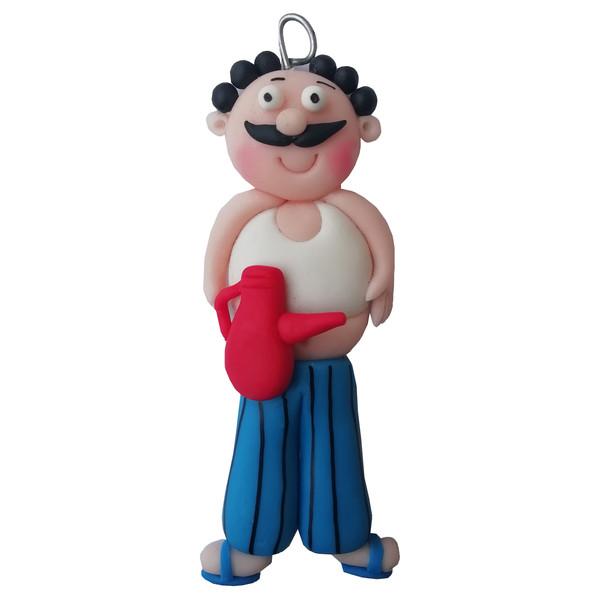 عروسک نشانگر درب سرویس بهداشتی طرح مرد عجول ارتفاع 10 سانتیمتر