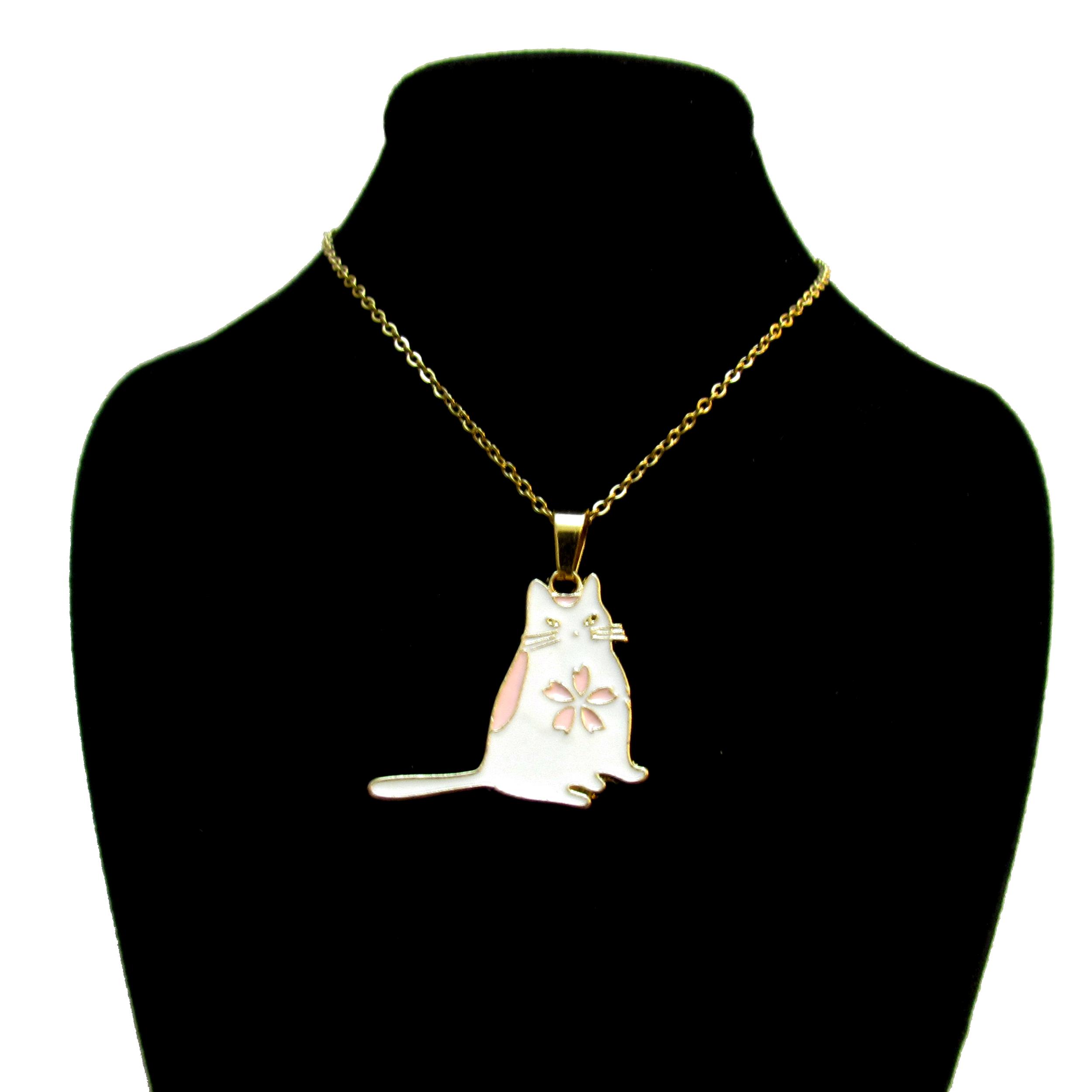 گردنبند دخترانه طرح گربه کد 500
