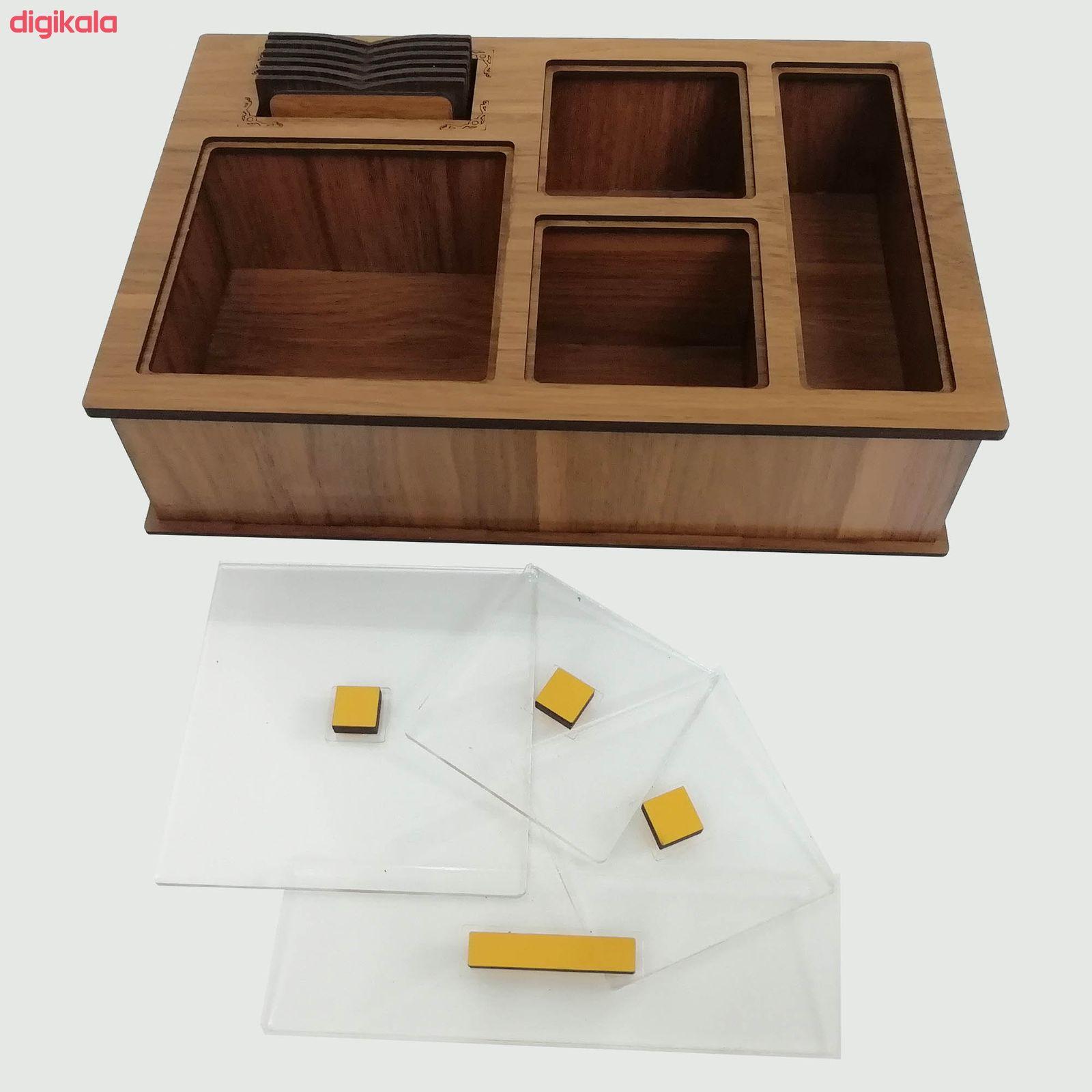 جعبه رومیزی تی بگ و تنقلات و زیرلیوانی مدل DR_BEST main 1 2