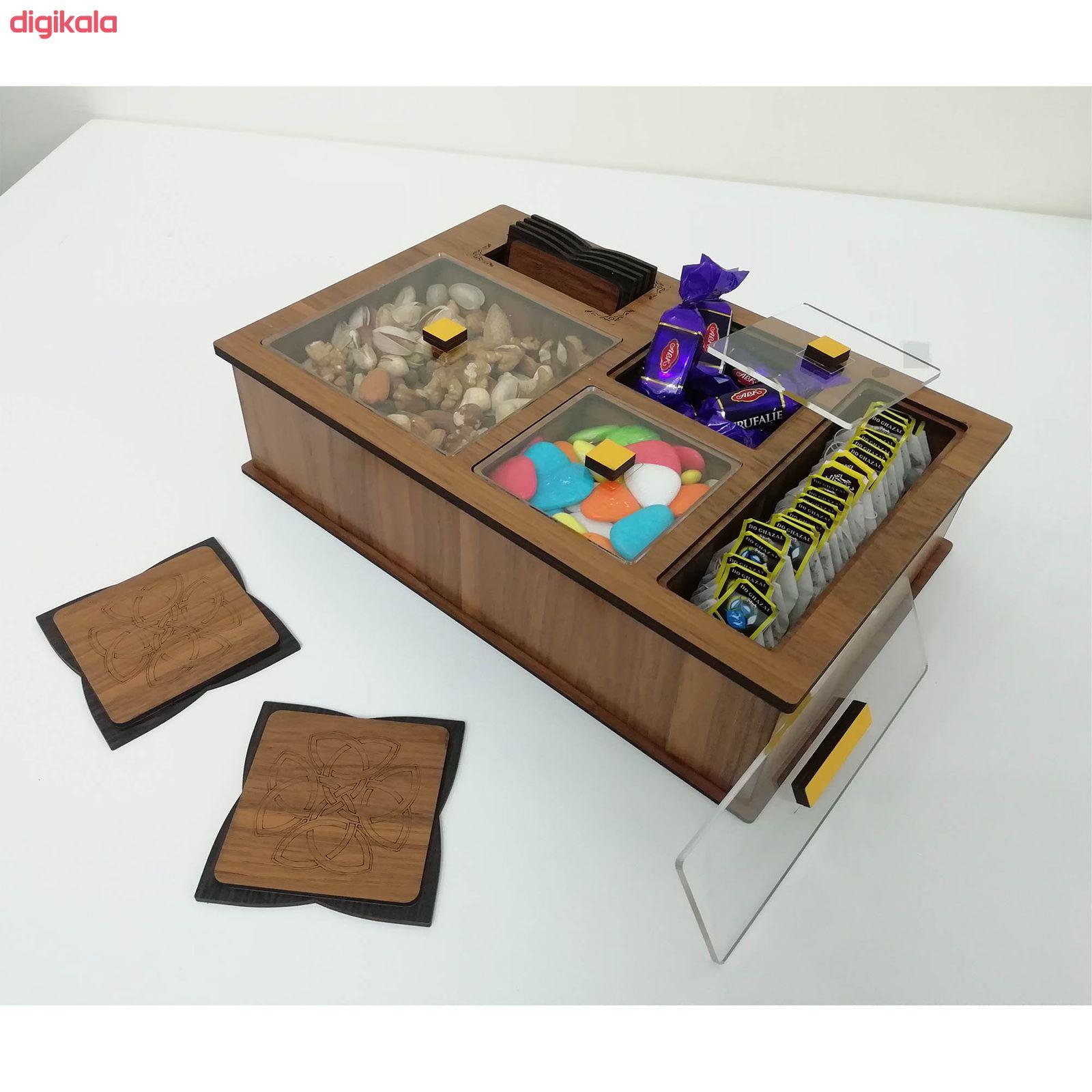 جعبه رومیزی تی بگ و تنقلات و زیرلیوانی مدل DR_BEST main 1 3