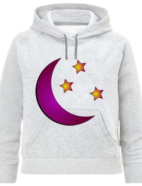 هودی دخترانه طرح ماه و ستاره کد F395