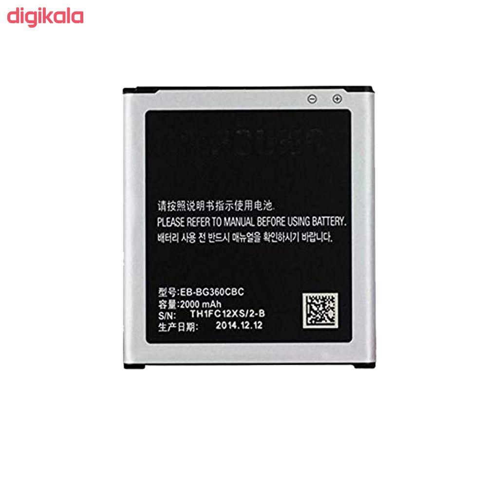 باتری موبایل مدل EB-BG360CBC ظرفیت 2000 میلی آمپر ساعت مناسب برای گوشی موبایل سامسونگ Galaxy Core Prime  main 1 1