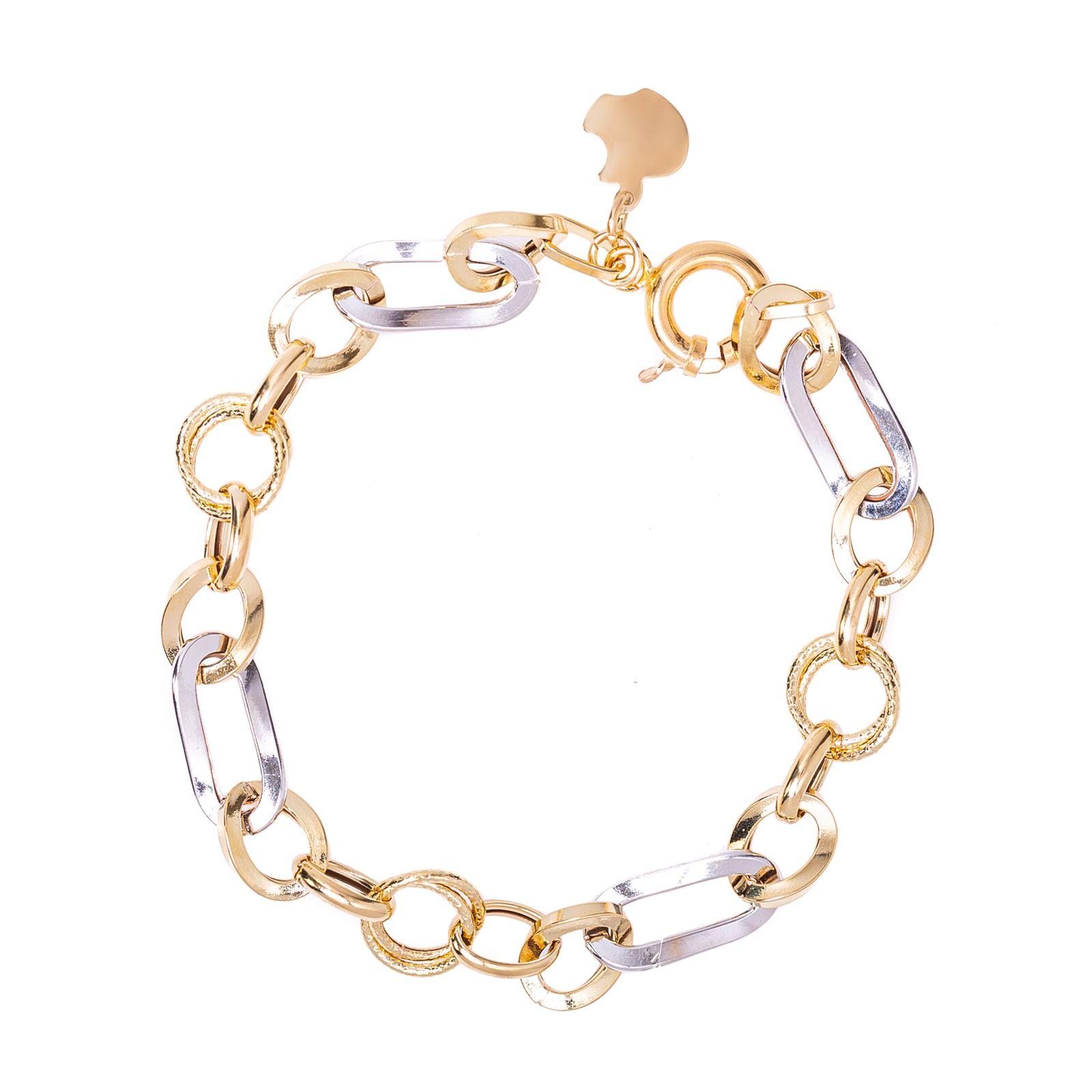 دستبند طلا 18عیار زنانه کد 17100 -  - 2