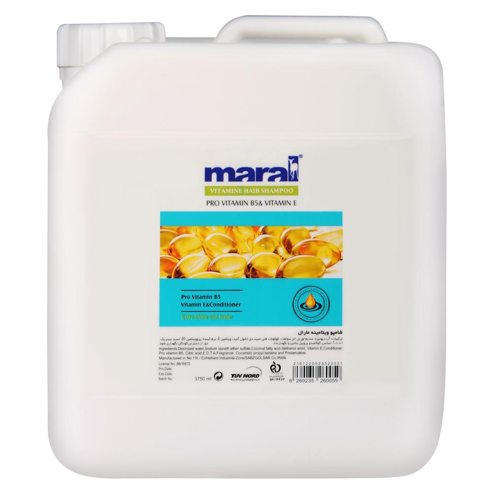 شامپو مو مارال مدل ویتامینه حجم 3750 میلی لیتر