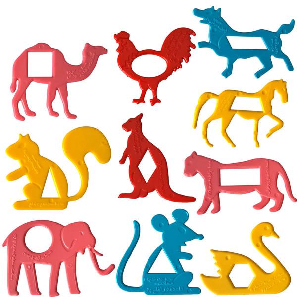 شابلون دانشمند مدل باغ وحش اشکال هندسی کد C4 مجموعه ده عددی