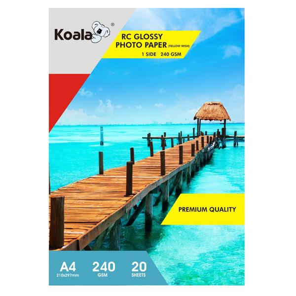 کاغذ چاپ عکس گلاسه کوالا مدل K240 سایز A4 بسته 20 عددی