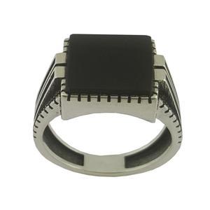 انگشتر نقره مردانه بلو استون کد 1067-65
