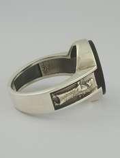 انگشتر نقره مردانه بلو استون کد 1069-65 -  - 2
