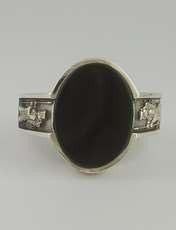 انگشتر نقره مردانه بلو استون کد 1069-65 -  - 5