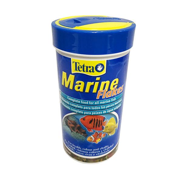 غذای خشک ماهی تترا مدل MARINE Flakes وزن 52 گرم