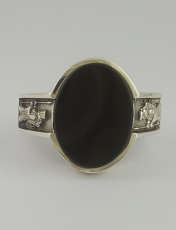 انگشتر نقره مردانه بلو استون کد 1069-63 -  - 4
