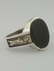 انگشتر نقره مردانه بلو استون کد 1069-63 -  - 2