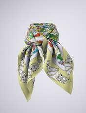 روسری زنانه مدل باغ پرندگان کد 01 -  - 3