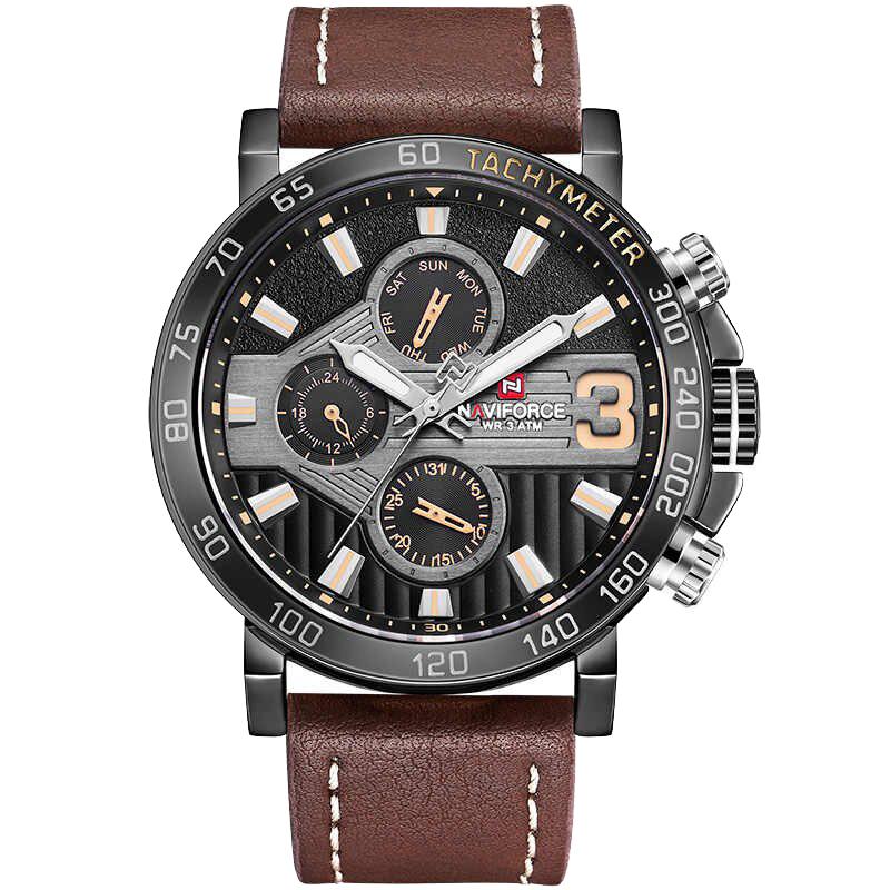 کد تخفیف                                      ساعت مچی عقربه ای مردانه نیوی فورس مدل NF9137M -B-Y-BN