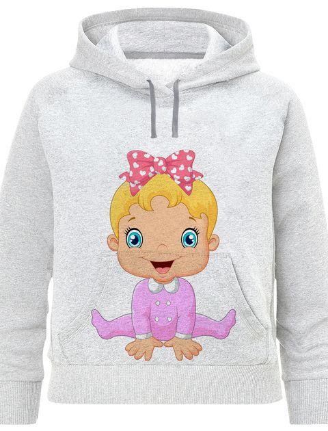هودی دخترانه طرح baby کد F413