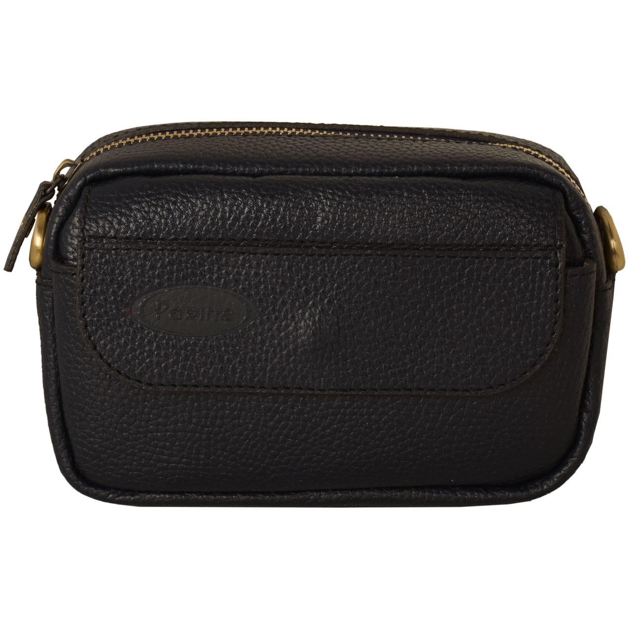 کیف دوشی مردانه پارینه چرم مدل db112-11