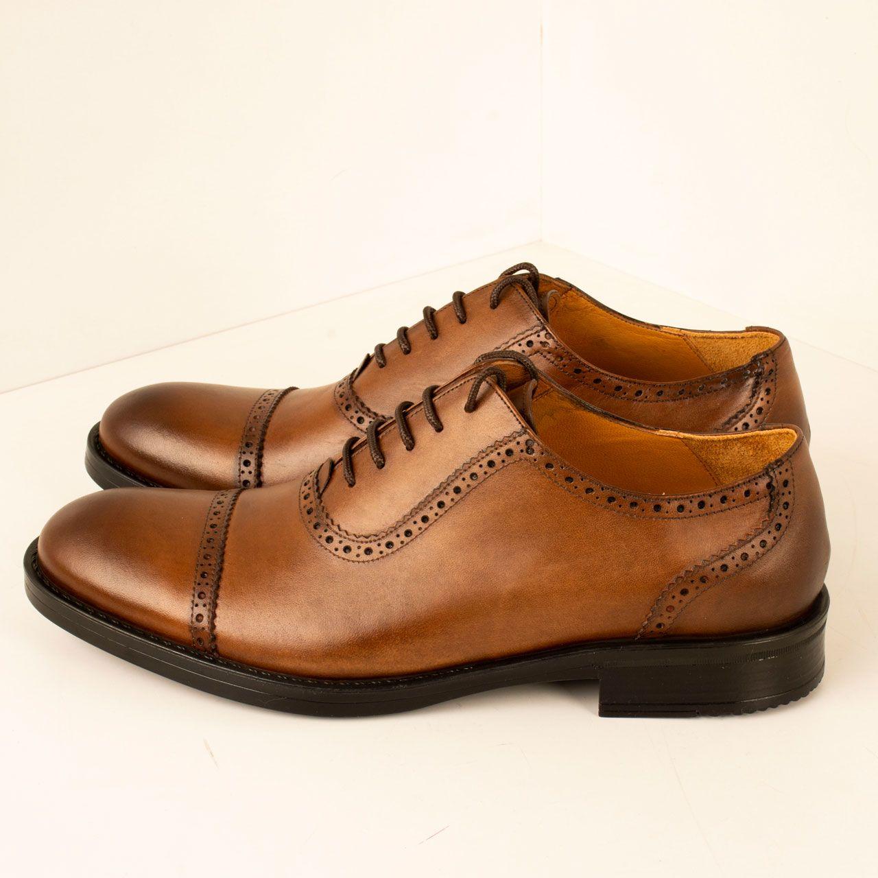 کفش مردانه پارینه چرم مدل SHO182-1 -  - 2