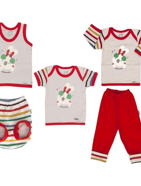 ست 5 تکه لباس نوزادی آدمک مدل Dj