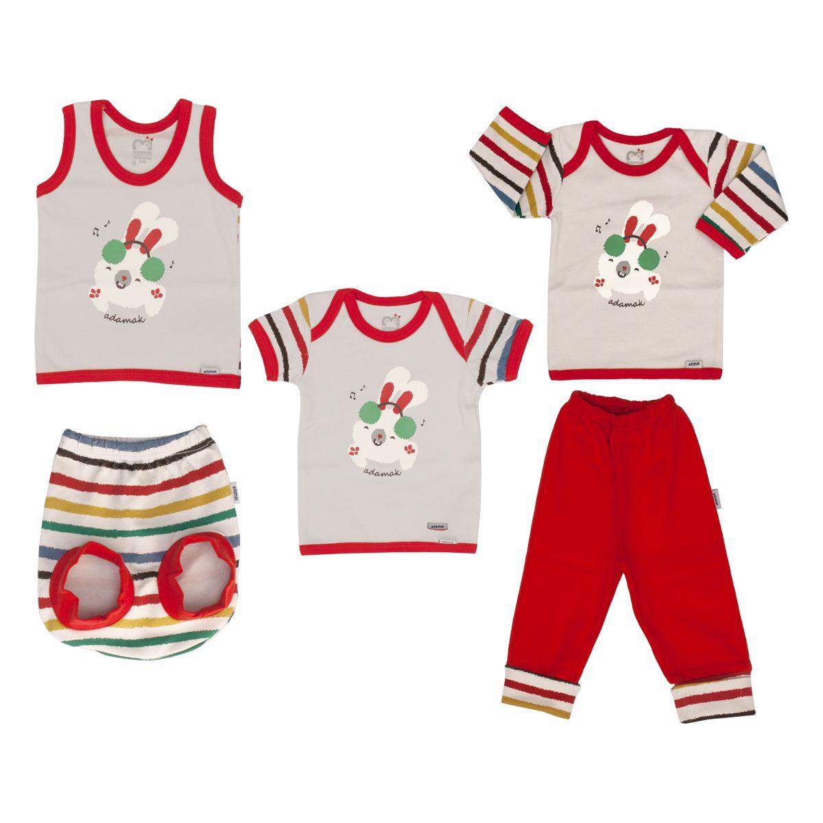 ست 5 تکه لباس نوزادی آدمک مدل Dj -  - 2