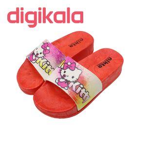 دمپایی دخترانه نیکتا طرح کیتی K1-Kity-305-RD