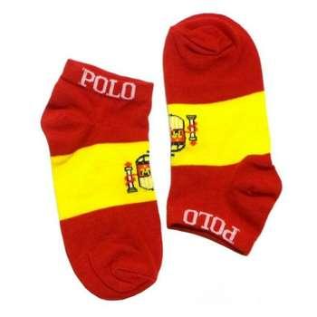 جوراب مردانه طرح پرچم اسپانیا کد 126 رنگ قرمز