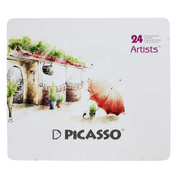 مداد رنگی 24 رنگ پیکاسو مدل Artists-Umbrella