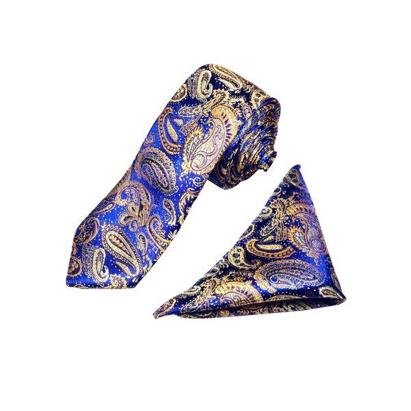ست کراوات و دستمال جیب مردانه کد KT001