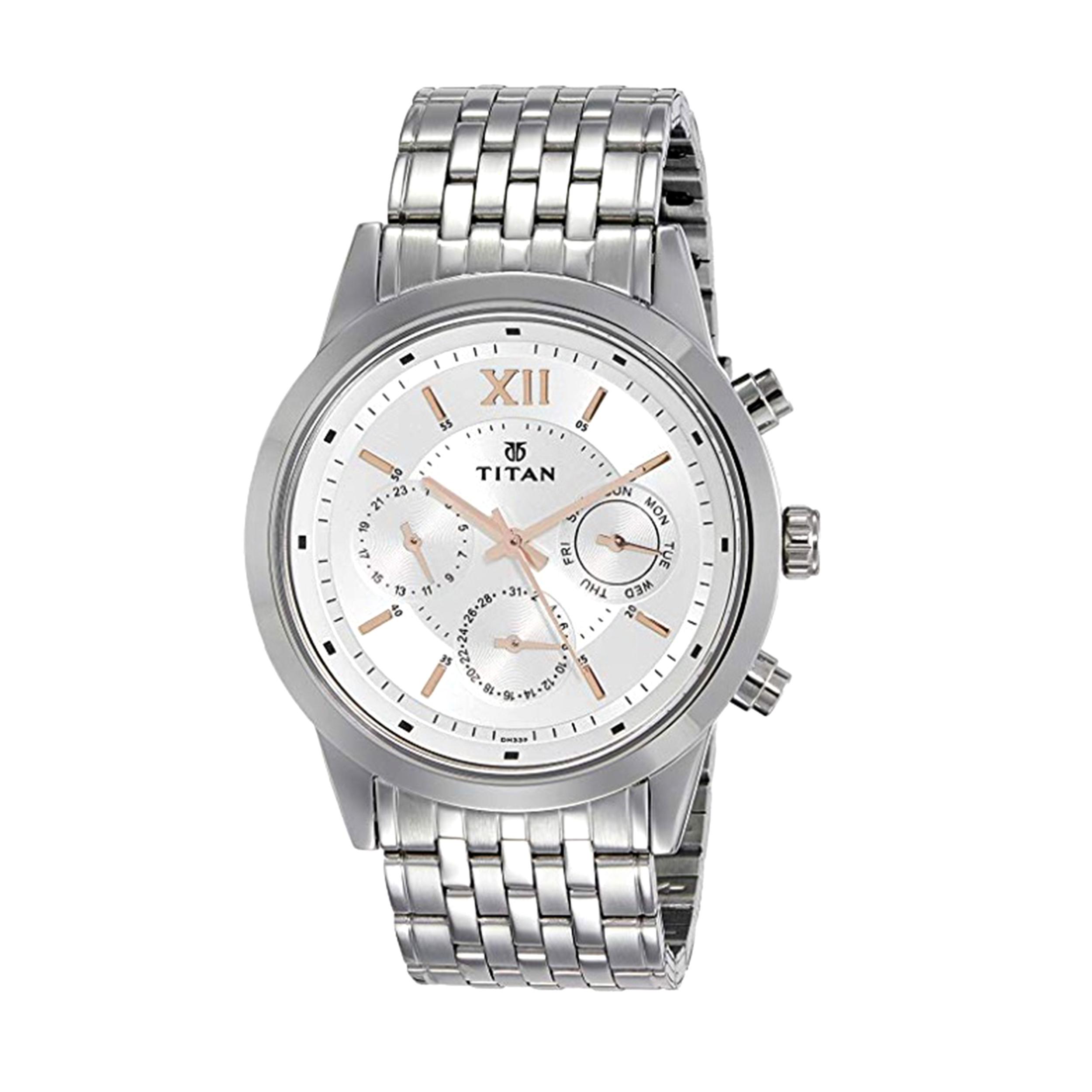 ساعت مچی عقربه ای مردانه تیتان مدل T1766SM02