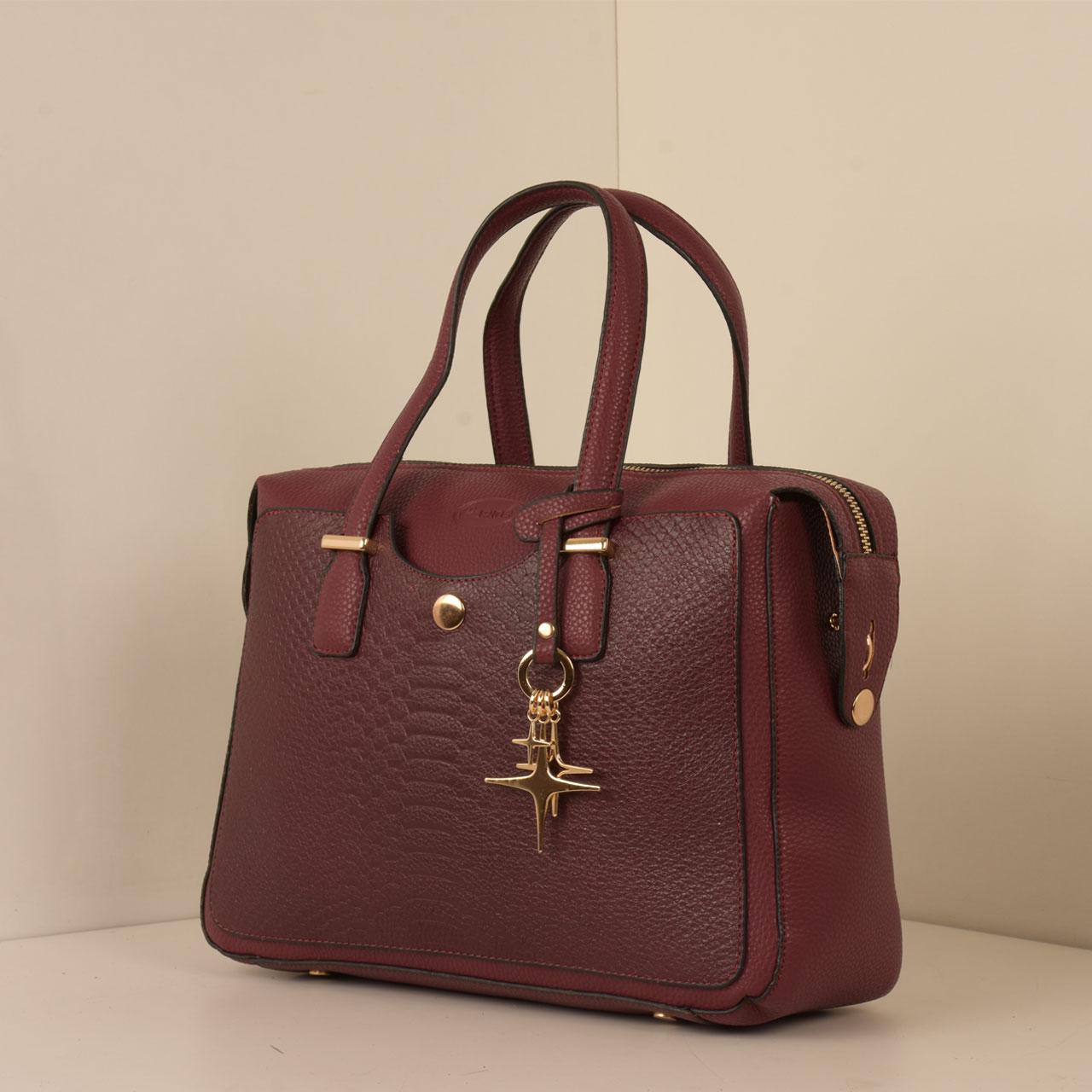 کیف دستی زنانه پارینه چرم کد PLV202-12-1516 -  - 2