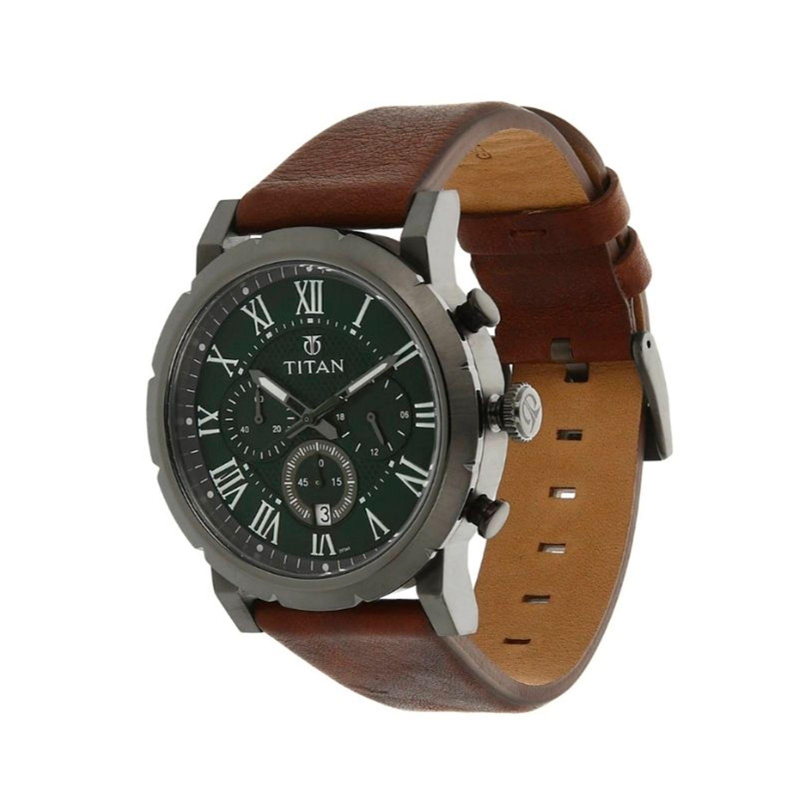 ساعت مچی عقربه ای مردانه تیتان مدل 90050QL01 -  - 4