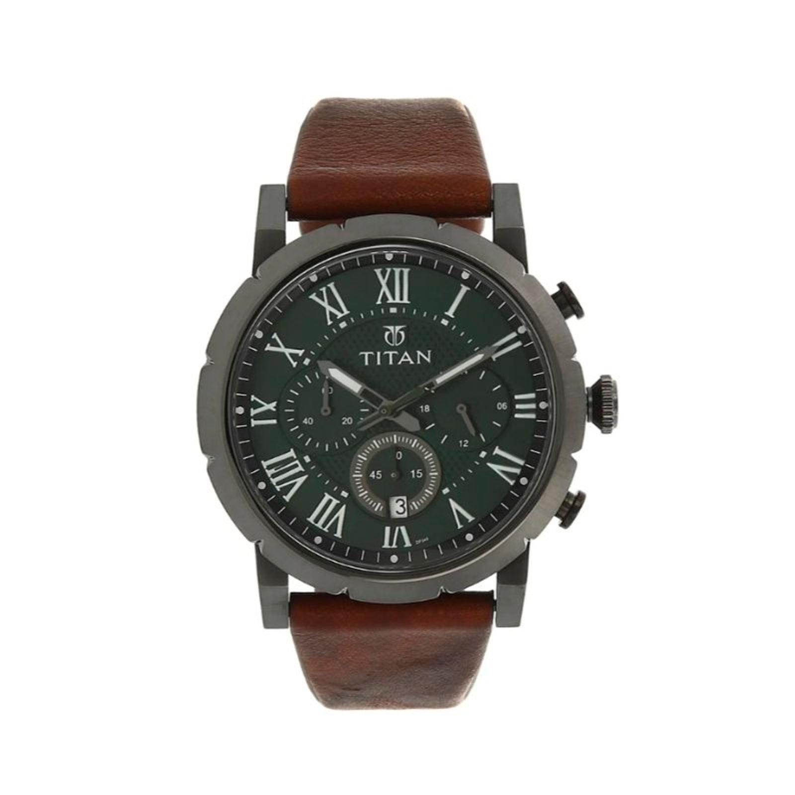 ساعت مچی عقربه ای مردانه تیتان مدل 90050QL01 -  - 2