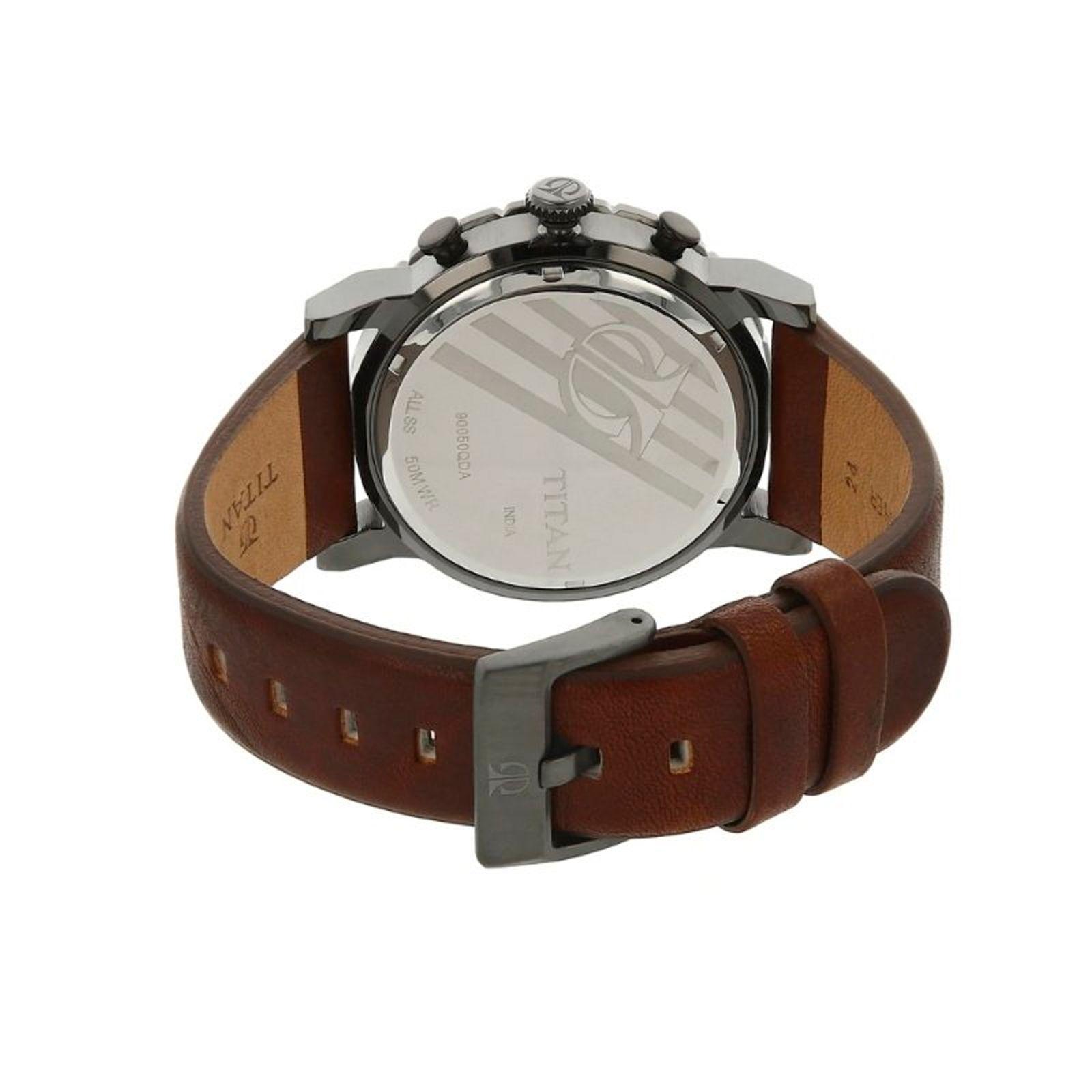 ساعت مچی عقربه ای مردانه تیتان مدل 90050QL01 -  - 3