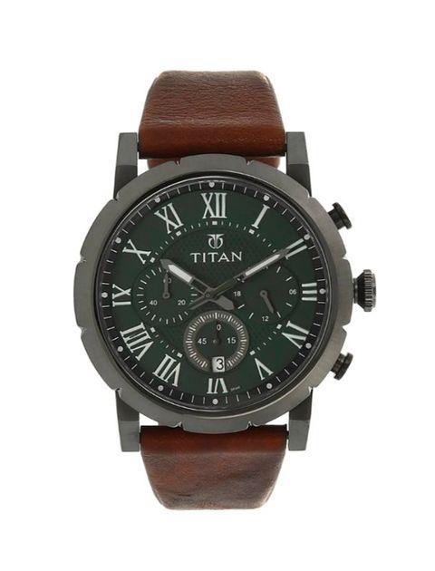 ساعت مچی عقربه ای مردانه تیتان مدل 90050QL01