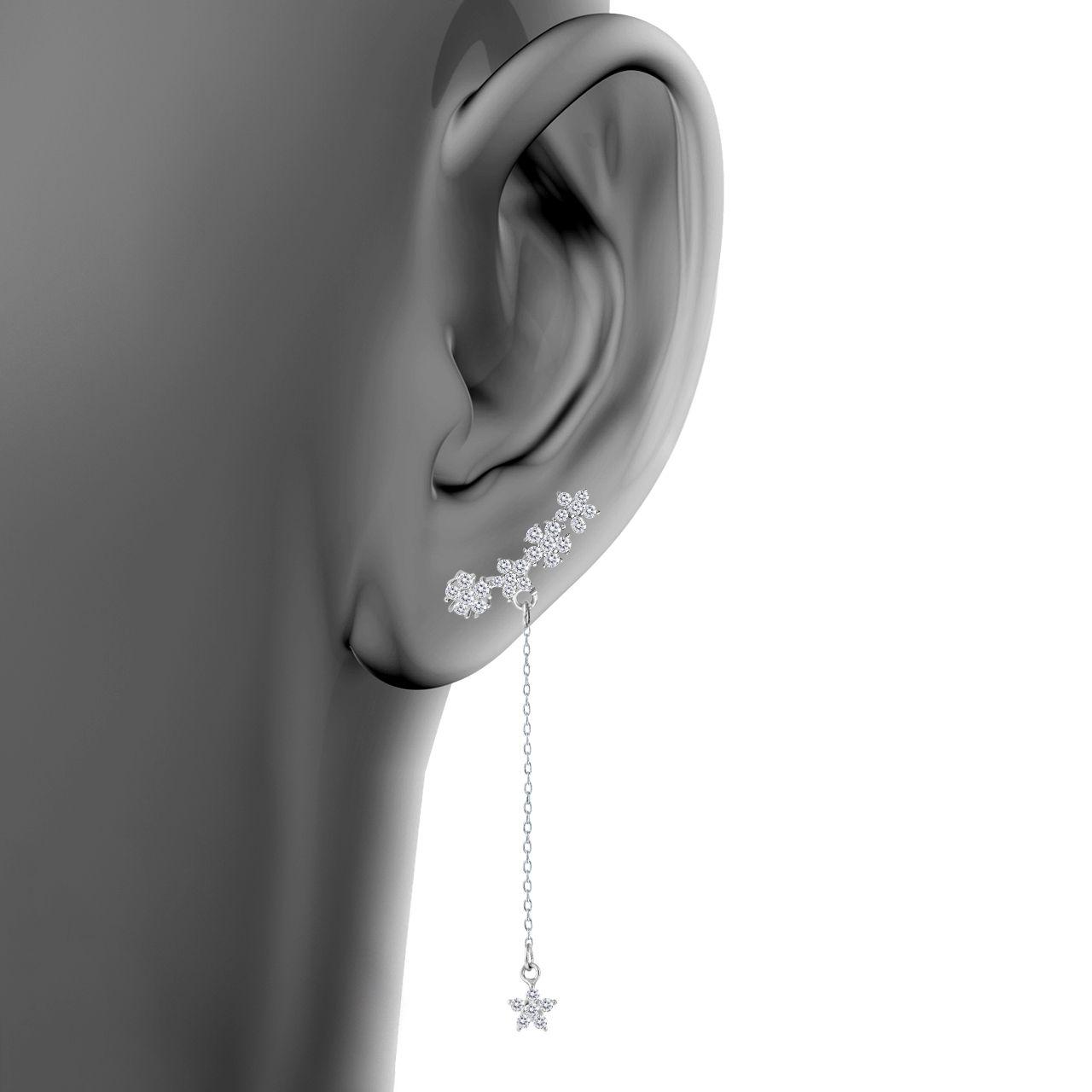 گوشواره نقره زنانه اقلیمه کد EN429 -  - 4