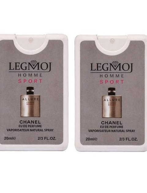 عطر جیبی مردانه لغموژ مدل Chanel Allure Homme Sport حجم 20 میلی لیتر بسته 2 عددی