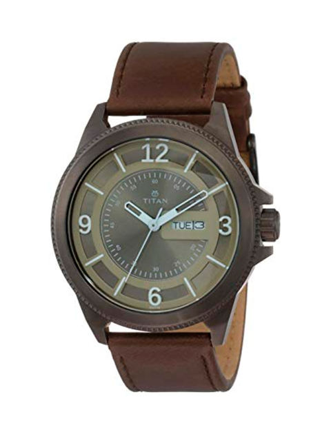ساعت مچی عقربه ای مردانه تیتان مدل T1701QL04