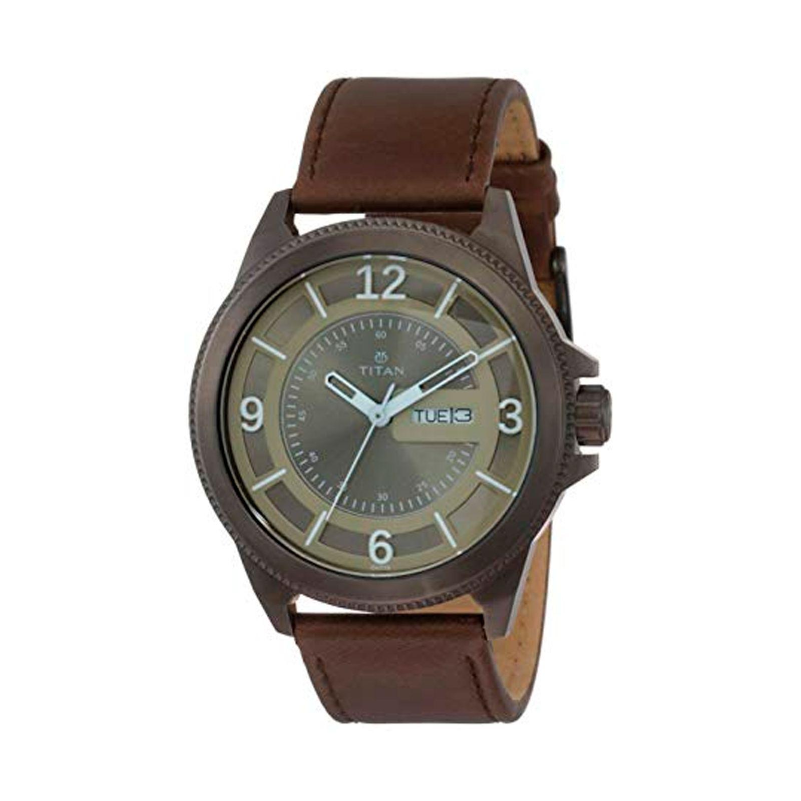 ساعت مچی عقربه ای مردانه تیتان مدل T1701QL04 -  - 2