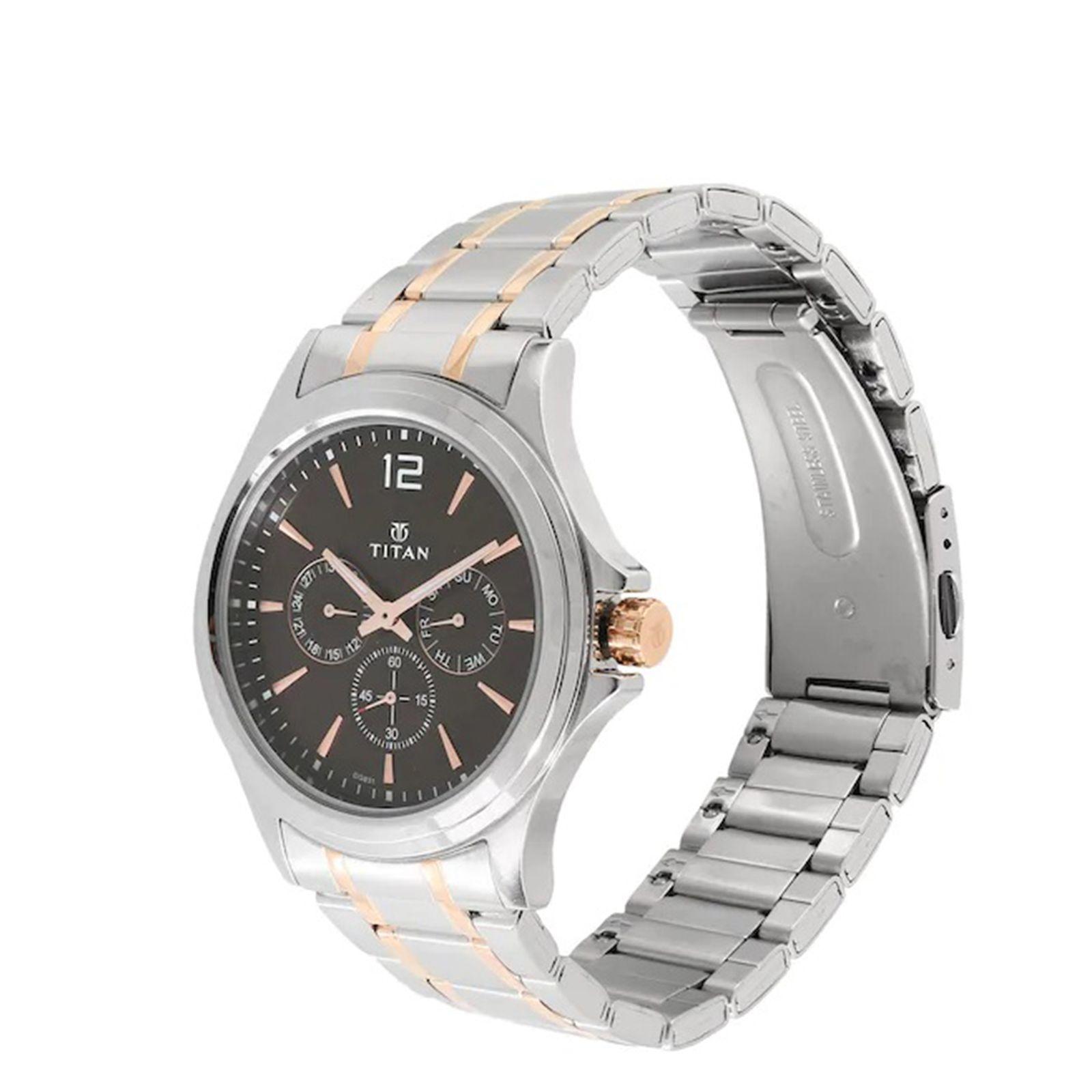 ساعت مچی عقربه ای مردانه تیتان مدل T1698KM01 -  - 3
